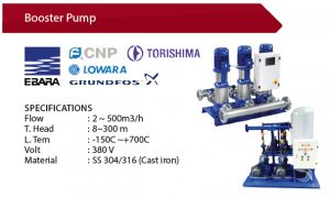 Booster Pump - Supplier Pompa Industri